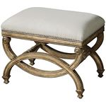 23052 Karline Natural Linen Bench, Small